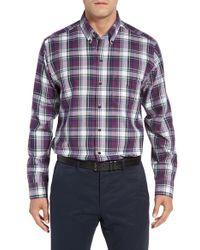 Cutter & Buck | Purple Meadow Plaid Sport Shirt for Men | Lyst