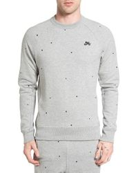 Lyst Nike Sb Everett Geo Print Sweatshirt In Gray For Men