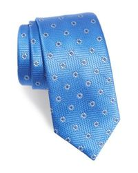 David Donahue | Blue Floral Medallion Silk Tie for Men | Lyst