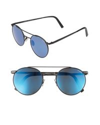 Randolph Engineering | Blue 'p3 Shadow Skull' 49mm Sunglasses | Lyst