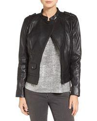 Bernardo | Black Slim Fit Leather Moto Jacket | Lyst