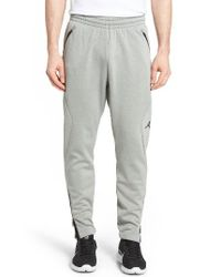 424b1d4577c1 Lyst - Nike Jordan 360 Therma Sphere Max Track Pants in Gray for Men