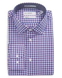 Calibrate - Purple Trim Fit Check Dress Shirt for Men - Lyst