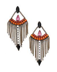 Lionette - Pink Swarovski Crystal Chandelier Earrings - Lyst