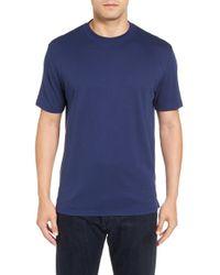 Robert Talbott | Blue Liquid Jersey Pima Cotton Crewneck T-shirt for Men | Lyst