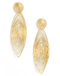Gas Bijoux | Metallic 'long Wave' Drop Earrings | Lyst