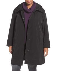 Gallery | Black Water Repellent Silk Look Rain Coat | Lyst