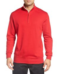 Bobby Jones | Red 'new Leaderboard' Quarter Zip Pullover for Men | Lyst