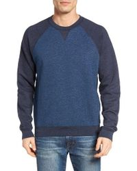 Tailor Vintage - Blue Raglan Crewneck Sweatshirt for Men - Lyst