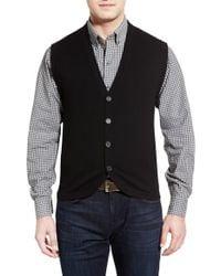 Cutter & Buck - Black Bosque Wool & Cashmere Sweater Vest for Men - Lyst