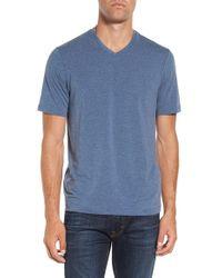 Travis Mathew | Blue 'uncle Bob 2.0' Solid Stretch V-neck T-shirt for Men | Lyst