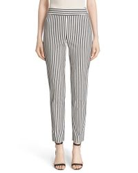 St. John | Multicolor 'emma' Cabana Stripe Stretch Cotton Pants | Lyst