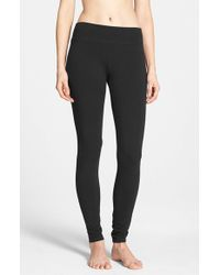 Hue | Black Wide Waistband Leggings | Lyst