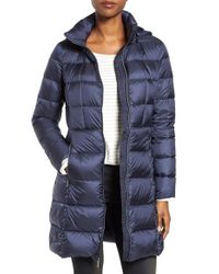 MICHAEL Michael Kors | Blue Hooded Down Coat | Lyst