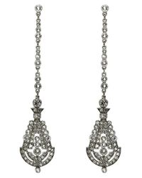 Ben-Amun | Metallic 'deco' Crystal Drop Earrings | Lyst