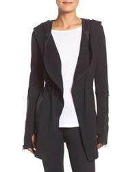 Blanc and Noir - Black Traveler Wrap Jacket - Lyst