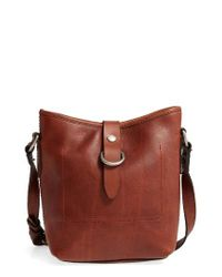 Frye | Brown Amy Leather Crossbody Bag | Lyst