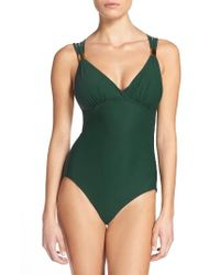 Miraclesuit | Green Strappy One-piece Swimsuit | Lyst