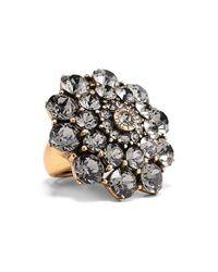 Oscar de la Renta | Black Swarovski Crystal Ring | Lyst