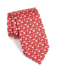 Ferragamo | Red Circus Animals Woven Silk Tie for Men | Lyst