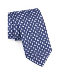 Ferragamo | Blue Bee Print Silk Tie for Men | Lyst