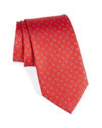 Ferragamo   Red Gancini Print Silk Tie for Men   Lyst