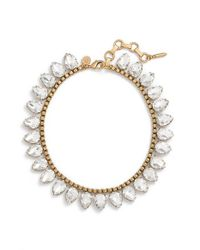 Loren Hope | Metallic 'sylvia' Crystal Collar Necklace | Lyst