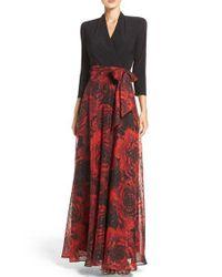Chetta B | Red Mixed Media Gown | Lyst