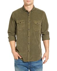 Jeremiah | Green 'jaymes' Pigment Dyed Corduroy Shirt for Men | Lyst