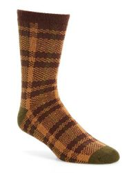 UGG - Brown Ugg Plaid Socks for Men - Lyst