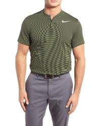 Nike | Green Aeroreact Golf Polo for Men | Lyst