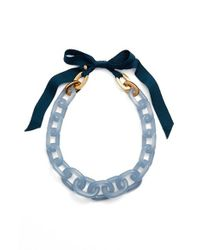 J.Crew - Blue Lucite Link Necklace - Lyst