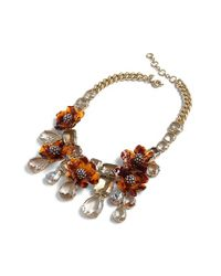 J.Crew - Multicolor Tortoise Look Flower Necklace - Lyst