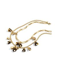 J.Crew | Metallic Faux Tortoise Bud Necklace | Lyst