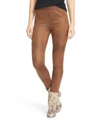 Free People   Brown Faux Leather Never Let Go Leggings   Lyst