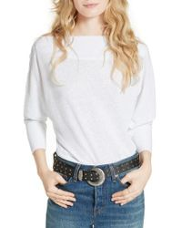 Free People | White Valencia Off The Shoulder Pullover | Lyst