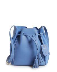 Longchamp   Blue Penelope Fantasie Leather Bucket Bag   Lyst