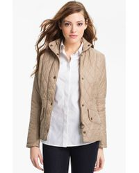 Barbour | Natural Cavalry Flyweight Quilt Jacket | Lyst
