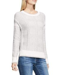 Two By Vince Camuto | White Drop Shoulder Box Plaid Sweater | Lyst