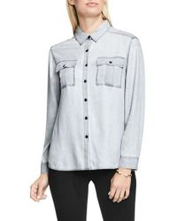 Two By Vince Camuto | Multicolor Pastel Fade Relaxed Utility Shirt | Lyst