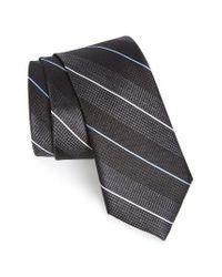 Calibrate   Black Stripe Silk Tie for Men   Lyst