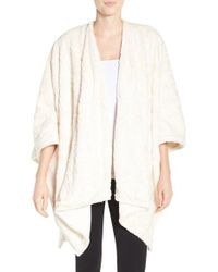 Natori - White Faux Fur Wrap - Lyst
