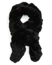 Toria Rose - Black Genuine Rabbit Fur Scarf - Lyst