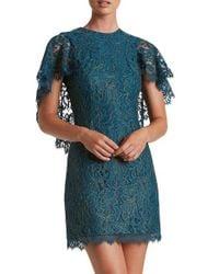 Dress the Population   Blue Shelby Metallic Sheath Dress   Lyst