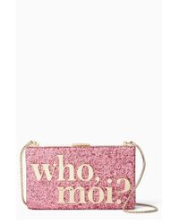 Kate Spade | Pink Who MoiGlitter Clutch - None | Lyst