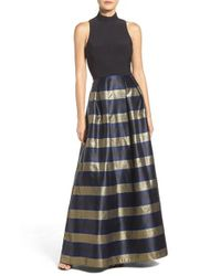 Xscape | Blue Metallic Ballgown | Lyst
