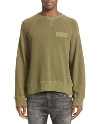 R13 | Green Raglan Sweatshirt for Men | Lyst