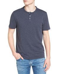 Original Penguin | Blue Bing Slim Fit Henley T-shirt for Men | Lyst