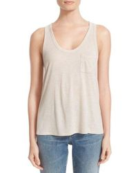T By Alexander Wang | Natural Jersey Tank | Lyst