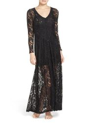 Band Of Gypsies | Black Lace Duster Robe | Lyst
